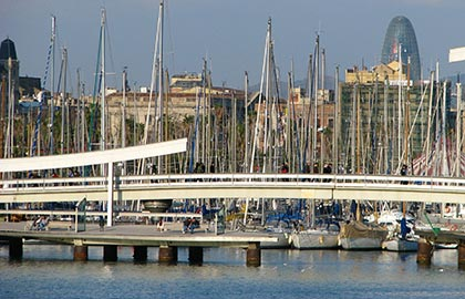 Which are the places of major tourist interest in Barcelona. Tourist information about Barcelona Old Harbour